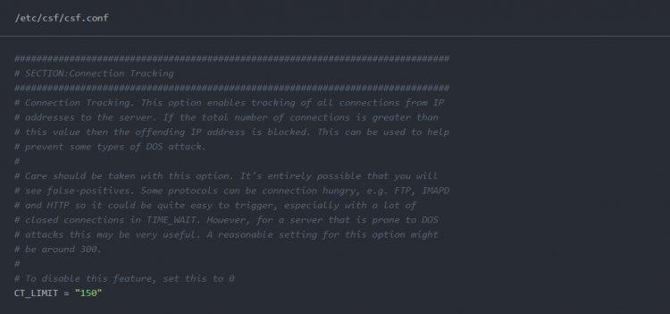 CSF - Cum se limitează numărul de conexiuni per adresă IP