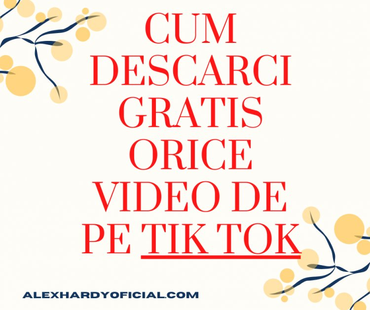 Cum descarci gratis orice video de pe Tik Tok si monetiza