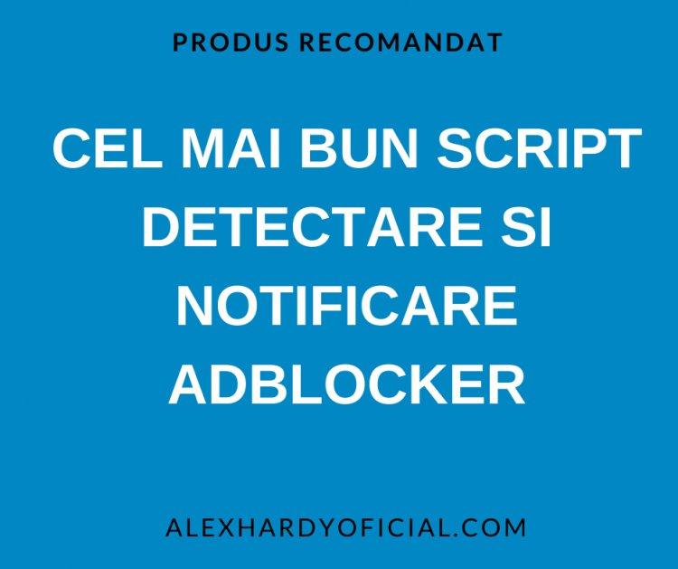 Cel mai bun script Detectare si notificare AdBlocker
